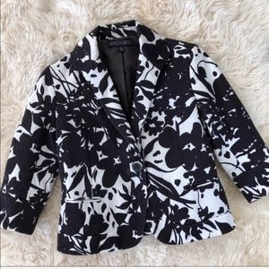 Lafayette 148 New York Cotton Floral Blazer Jacket